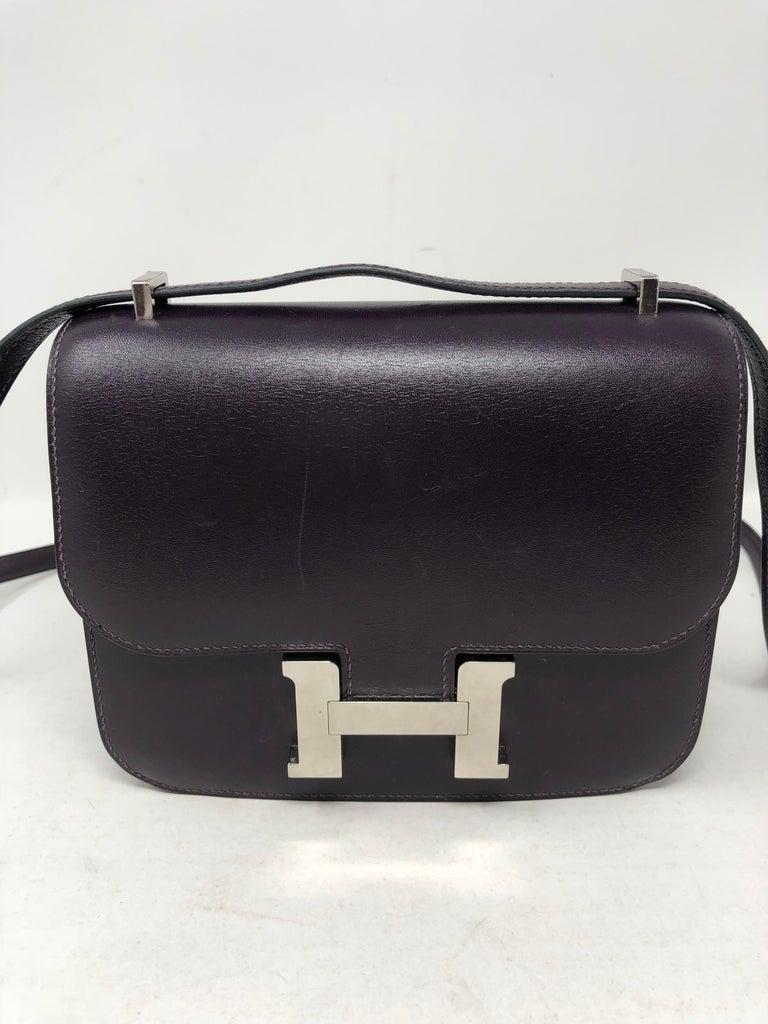 Hermes Mini Constance 18 Purple Bag For Sale 5