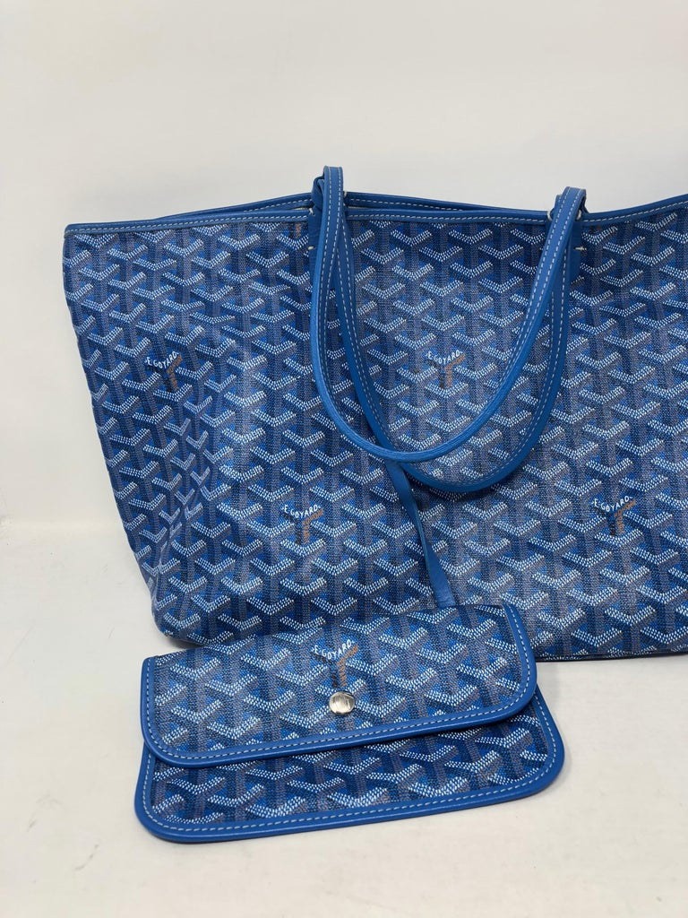 Goyard St Louis Tote Pm Blue At 1stdibs