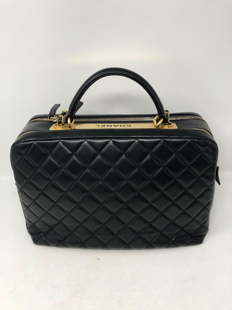 51e0d75b8fea35 Women's or Men's Chanel Black Trendy CC Bowling Bag For Sale