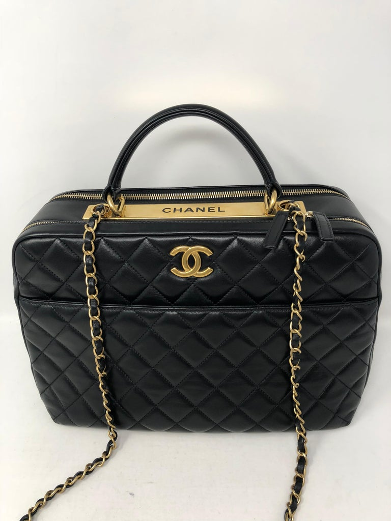 Chanel Black Trendy Cc Bowling Bag For Sale At 1stdibs