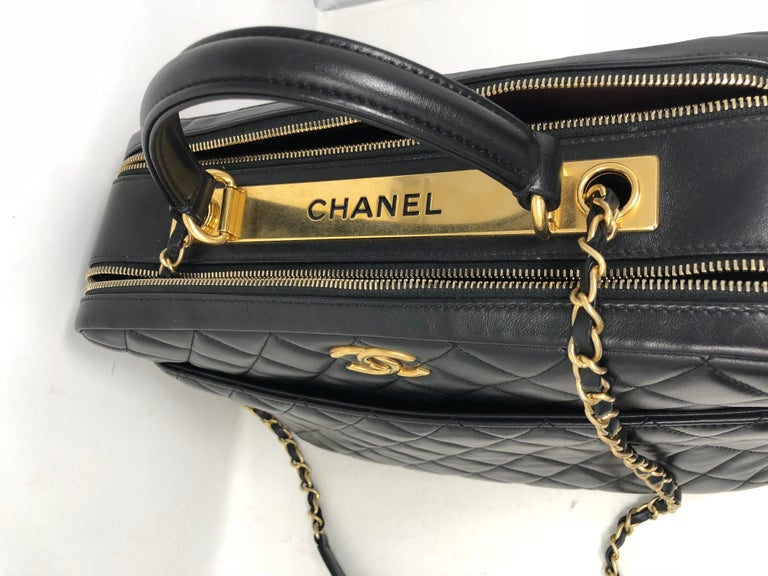 88ca7b1d1b1d3b Chanel Black Trendy CC Bowling Bag For Sale at 1stdibs