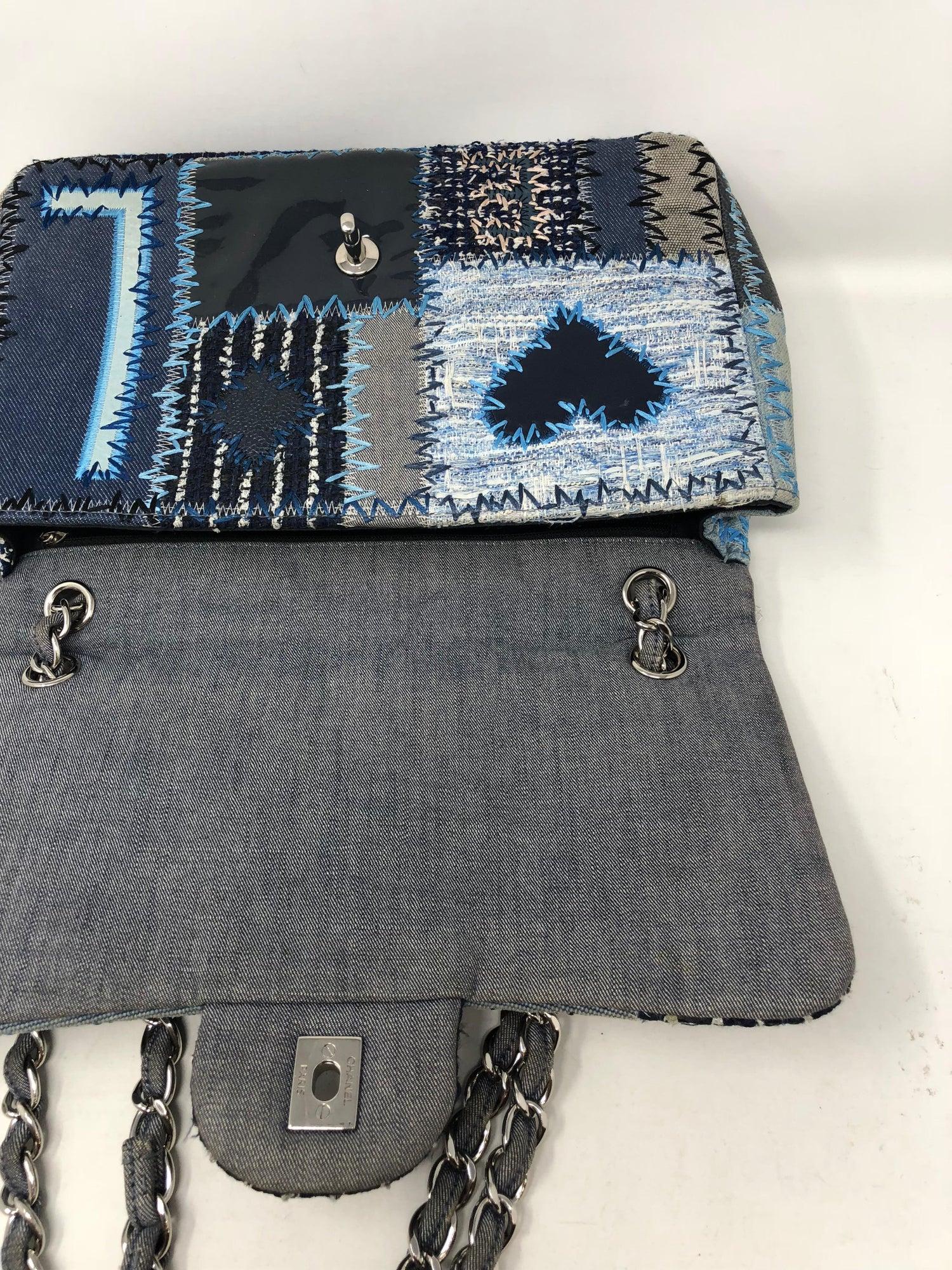 09d16f634e86 Chanel Denim Patchwork Bag at 1stdibs