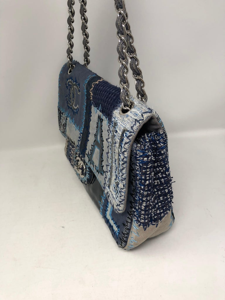 55546d244132 Women s or Men s Chanel Denim Patchwork Bag For Sale