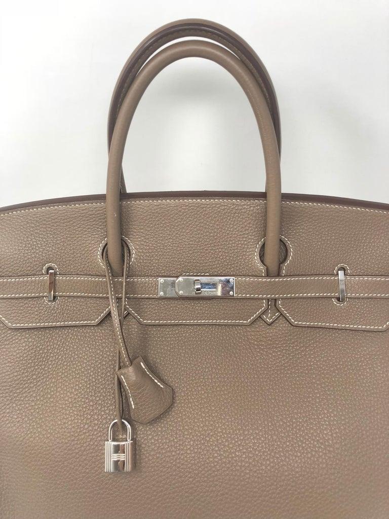 4bea41471424 Hermes Birkin 40 Etoupe Togo Leather For Sale at 1stdibs
