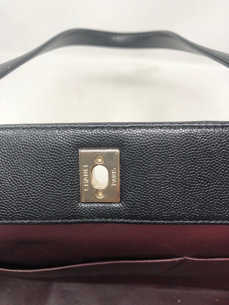0a0411393bdd49 Chanel Large Business Affinity Shopping Tote Black Caviar For Sale 5