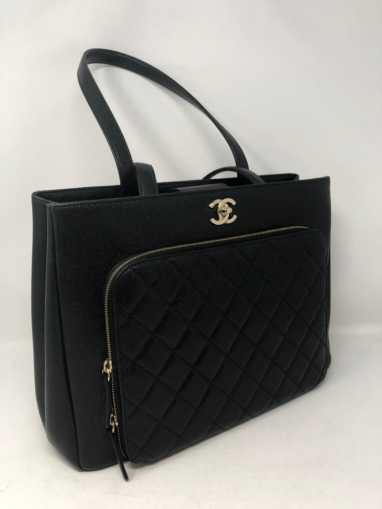 3ef778f56f98dd Chanel Large Busimess Affinity Shopping Tote in Black Caviar leather. Gold  hardware. Like new