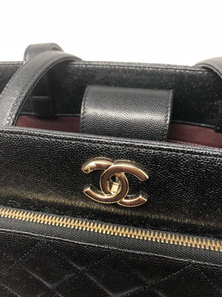 30a41f460179b5 Chanel Large Business Affinity Shopping Tote Black Caviar For Sale 7