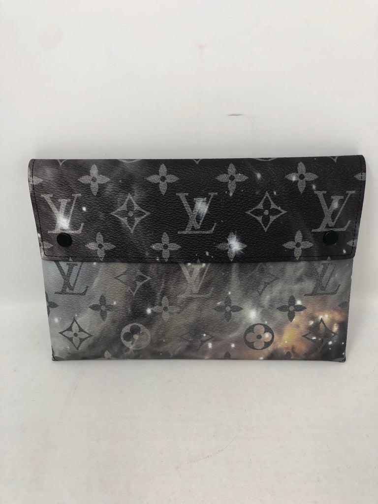 9ba3a4ba5ff2 Black Louis Vuitton Pochette Alpha Monogram Galaxy For Sale