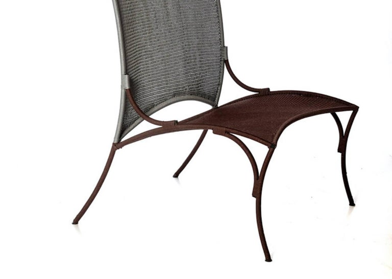 Modern Arco Chair B. by Martino Gamper for Moroso for Indoor/Outdoor in Multi-Color For Sale