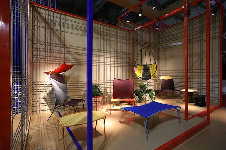 Senegalese Arco Chair B. by Martino Gamper for Moroso for Indoor/Outdoor in Multi-Color For Sale