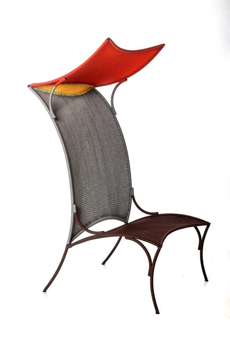 Polyester Arco Chair B. by Martino Gamper for Moroso for Indoor/Outdoor in Multi-Color For Sale