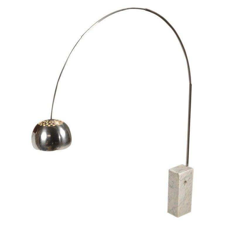 """Arco"" Floor Lamp by Achille & Pier Giacomo Castiglioni for Flos, circa 1960s For Sale"