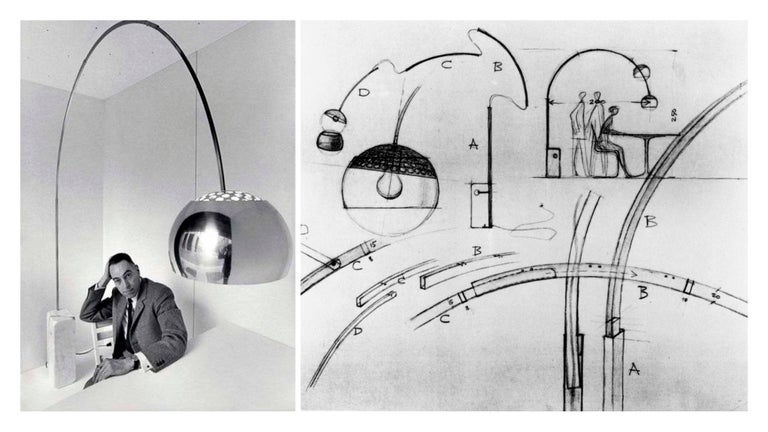 Italian Arco Floor Lamp by Castiglioni Brothers, Italy, 1962 For Sale