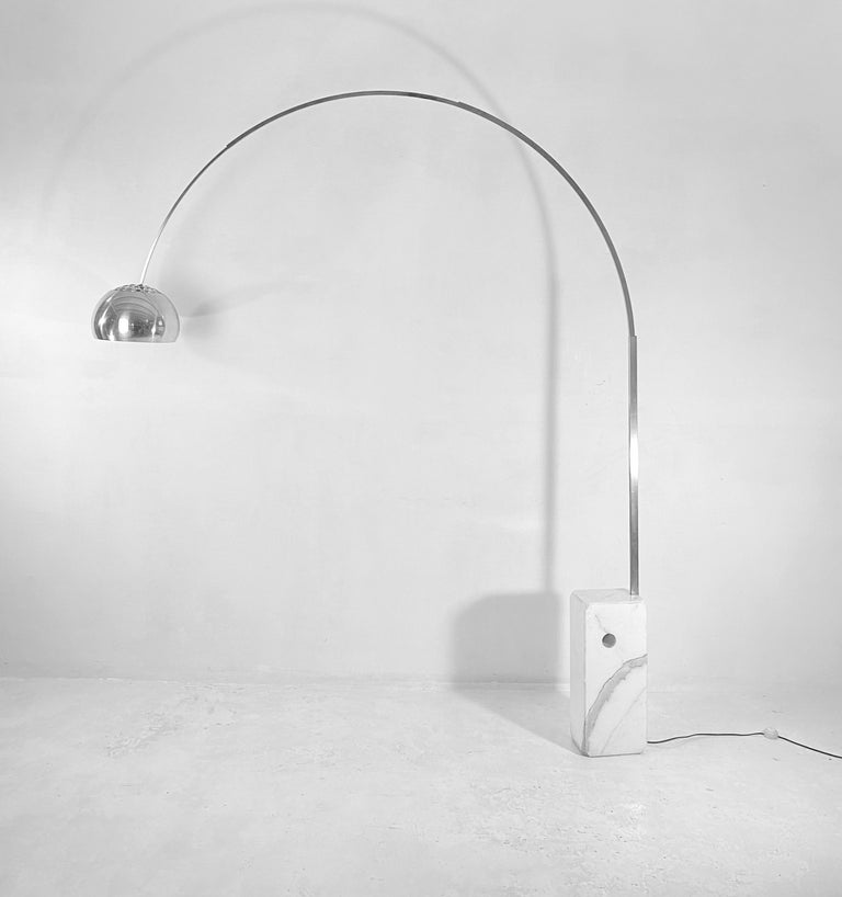 20th Century Arco Floor Lamp by Castiglioni Brothers, Italy, 1962 For Sale