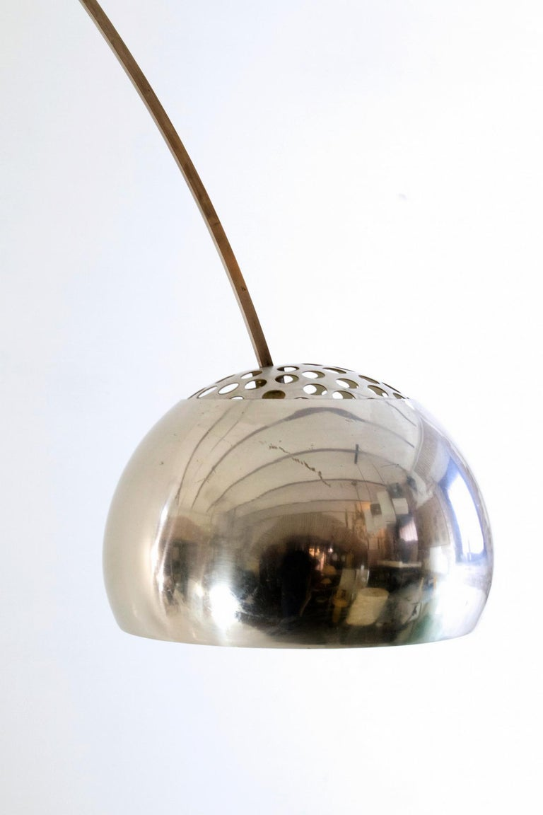 Aluminum Arco Floor Lamp by Castiglioni Brothers, Italy, 1962 For Sale