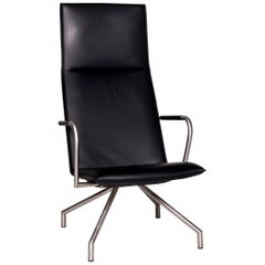 Arco Lay Down Leather Armchair Black