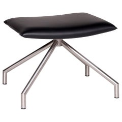 Arco Lay Down Leather Stool Black