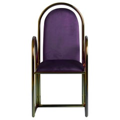 Arco Purple Chair with Velvet Upholstery