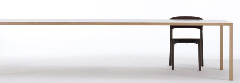 Arco Slim Dining Table In Oak With White Top Im Angebot Bei 1stdibs