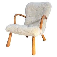 "Arctander ""Muslingestolen"" or ""Clam"" Chair in Shearling"