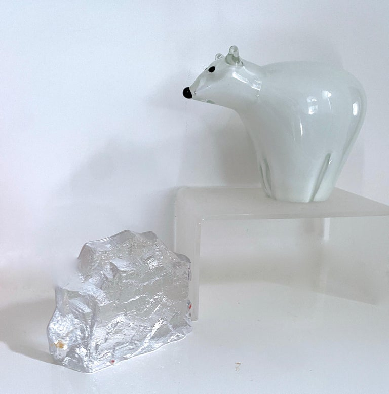 Murano Glass Arctic Animal Sculpture Italian Murano and Scandinavian Modernist Glass 4 Pieces For Sale