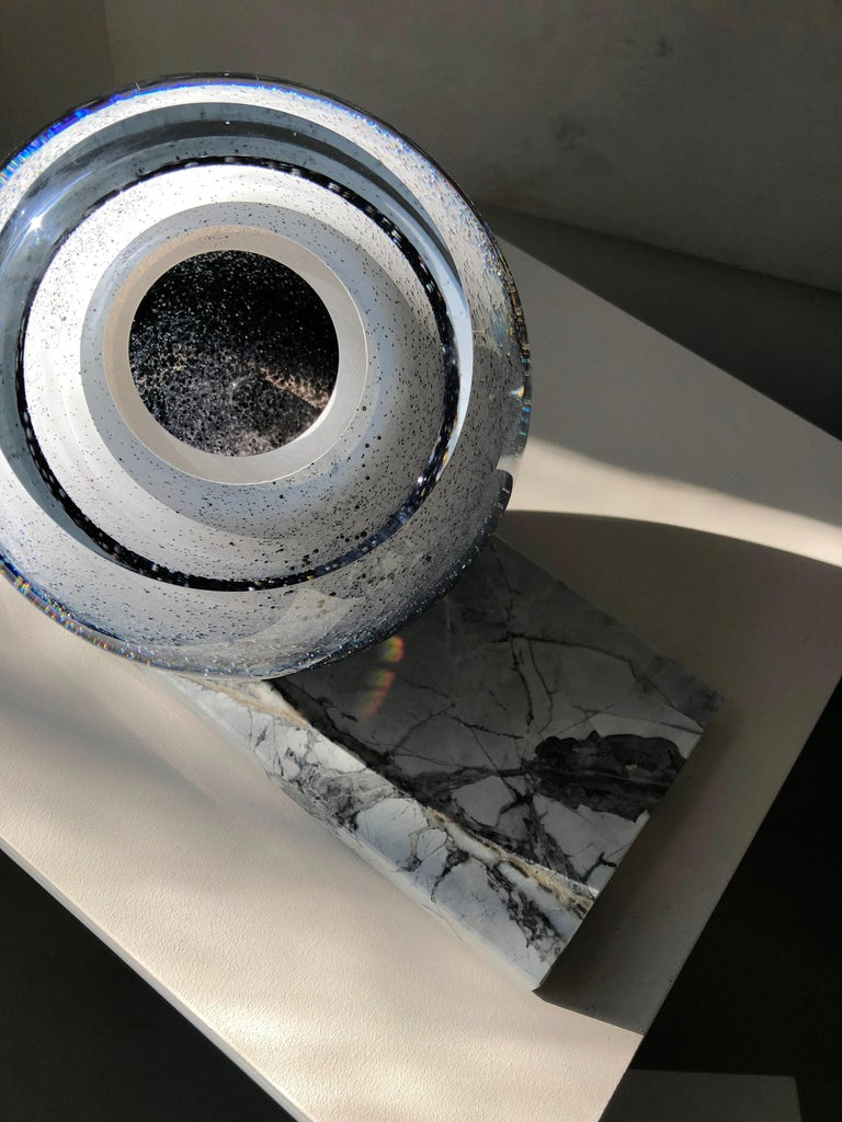 Hand-Crafted 'Arctica' Large Sculptural Vase by Experimental, 2020 For Sale