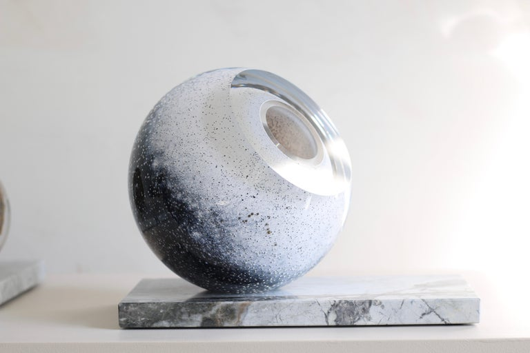 Blown Glass 'Arctica' Large Sculptural Vase by Experimental, 2020 For Sale