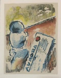 Caffè / Coffee - Original Lithograph by Ardengo Soffici - 1960s