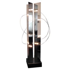 ARDITI BT4 1972 Radical Lamp, One-Off Original Steel Finish, Movable Lights
