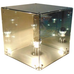 1972 A.R.D.I.T.I. Table Lamp Smoked Glass Prismar 3 by Sormani Nucleo, Italy