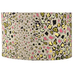Ardmore Leopards Light Fabric Lampshade, Vicose Linen, Large