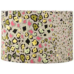 Ardmore Leopards Light Fabric Lampshade, Vicose Linen, Medium