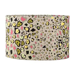 Ardmore Leopards Light Fabric Lampshade, Viscose Linen, Small