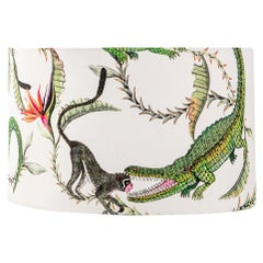 Ardmore River Chase Fabric Lampshade, Vicose Linen, Large