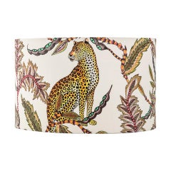 Ardmore Monkey Bean Fabric Lampshade, Vicose Linen, Large