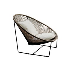 Arena steel and textile fabric Armchair
