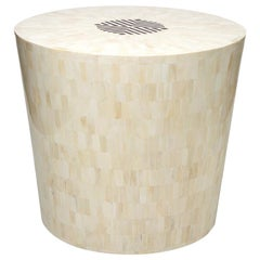 Arena Bone and Horn Inlay End Table /Stool