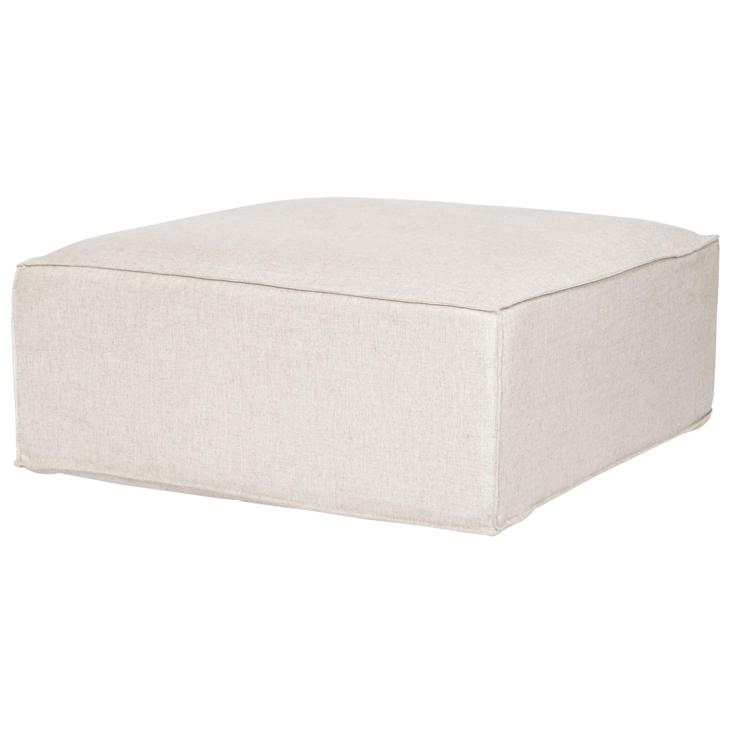 Arena ottoman module for Sofa in linen color fabric upholstery