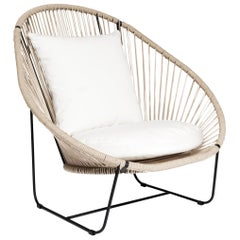 Arena Steel with Rope Weave Armchair