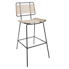 Arena Steel with Rope Weave Bar Stool