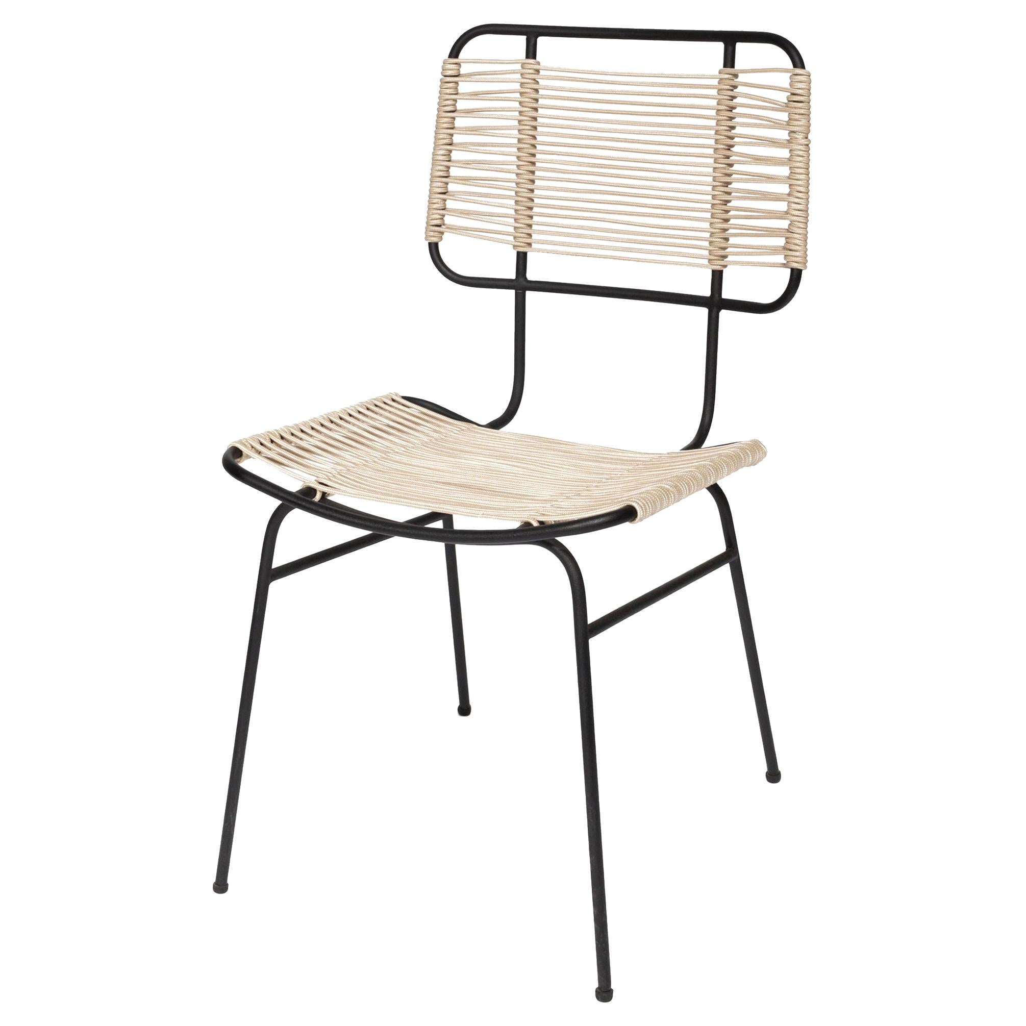Arena Steel with Rope Weave Chair