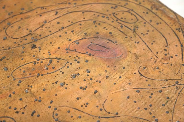 arenson studios art nouveau pattern copper clad cabi