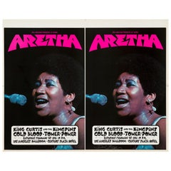 Aretha Franklin Original Uncut Printer's Proof Concert Poster, Los Angeles, 1971