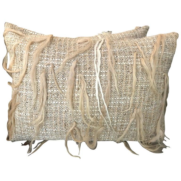 """Arezzo"" Merino Wool Pillow For Sale"