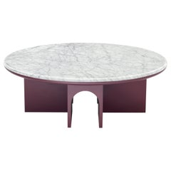 Arflex Arcolor 100cm Small Table in White Carrara Marble Top by Jaime Hayon