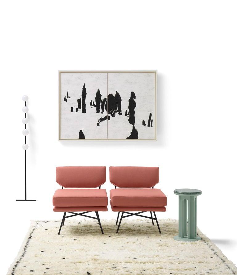 Italian Arflex Arcolor 30cm Small Table in White Carrara Marble Top by Jaime Hayon For Sale