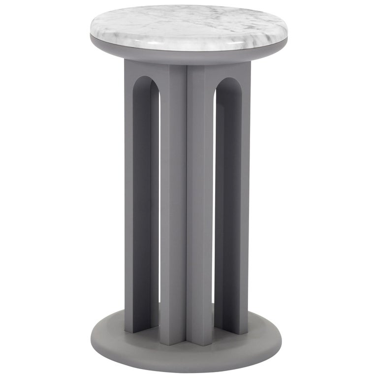 Arflex Arcolor 30cm Small Table in White Carrara Marble Top by Jaime Hayon For Sale