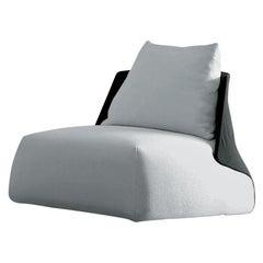 Arflex Butterfly Armchair in Grey and Black Etoile Fabric by Mauro Lipparini