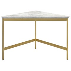 Arflex Capilano 55cm Small Table in White Carrara Marble-Top by Luca Nichetto