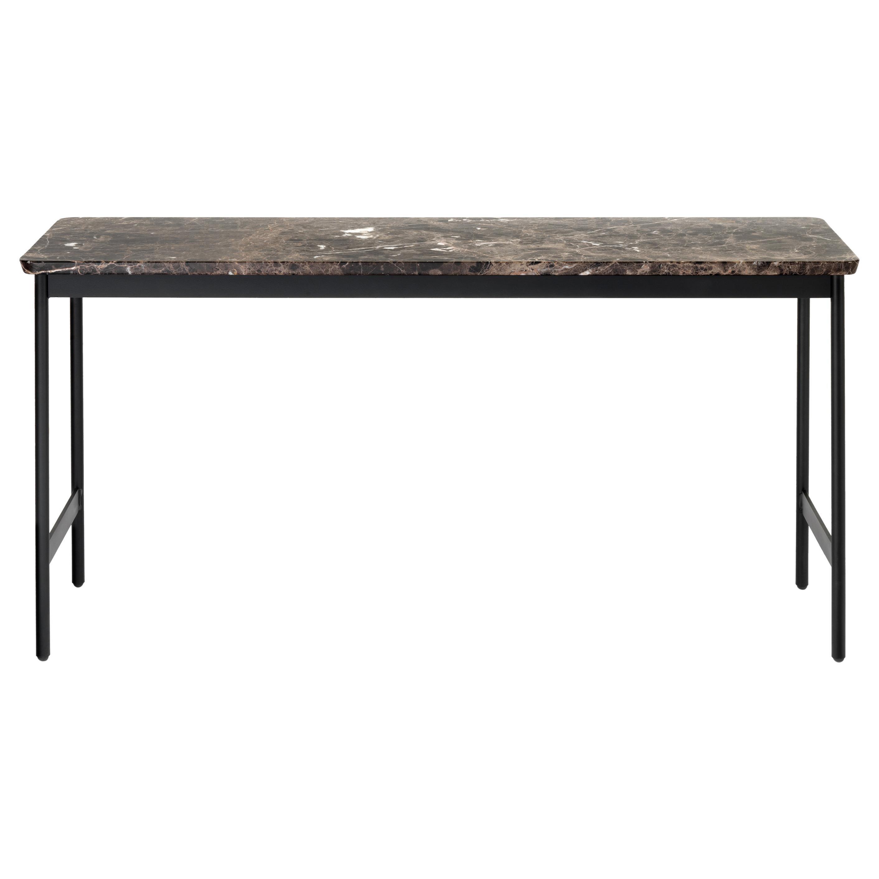 Arflex Capilano 96cm Small Table in Emperador Marble Top by Luca Nichetto